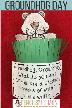 Do you celebrate Groundhog Day with your preschool, kindergarten, or first grade students? These fun groundhog crafts, activities, and facts will keep your students engaged all week! #groundhogdayfun #groundhogday #preschool #kindergarten #groundhogdayactivities