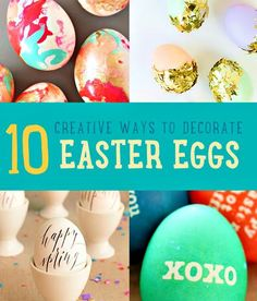 Looking for Easter egg designs and decorating ideas? If you want fun and easy DIY Easter crafts and egg designs this is the list for you! Diy Osterschmuck, Easy Diy Crafts, Creative Crafts, Valentine Crafts For Kids, Homemade Valentines, Easter Crafts, Egg Crafts, Kids Crafts, I Love Diy