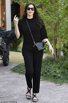 Glamorous: Liv Tyler, looked in high spirits as she departed Lido, Venice on Friday after enjoying some down time after attended the annual festival Liv Tyler Style, Black Jumper, Most Beautiful Indian Actress, Star Fashion, Chic Outfits, Celebrity Style, Street Style, Style Inspiration, Stylish