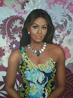 First Lady Michelle Obama 44 Black Women Art, Beautiful Black Women, Black Girls, Beautiful People, Black Art, Beautiful Life, Beautiful Things, Joe Biden, Durham