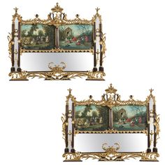 Pair of Palatial Chinese Chippendale Style Mirrors | From a unique collection of antique and modern pier mirrors and console mirrors at https://www.1stdibs.com/furniture/mirrors/pier-mirrors-console-mirrors/