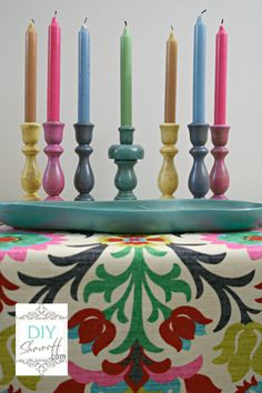 colorful candles - thrifty treasure transformation