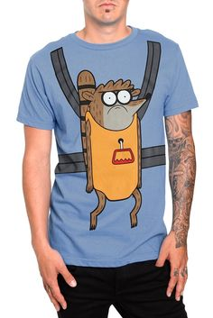 REGULAR SHOW RIGBY CARRIER T-SHIRT  $20.50