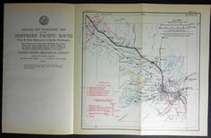 1915 Railroad Map Minneapolis, St Paul, Anoka, Becker, Cable, Mississippi River, Minnesota MN. Northern Pacific Rail Antique. Map Vintage