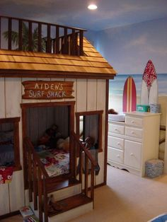 cool bunk beds! Super cute! So many ideas for other themes can come from this....I love it!