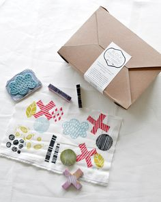 Block Printing on Fabric Kit by Maze & Vale