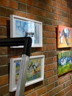 Meine Kranich Aquarelle im Haus der SWR vor der Eröffnung (c) Frank Koebsch (4) #Kraniche #Aquarelle #Ausstellung #watercolor #crane