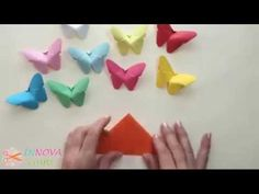 How to fold origami butterfly 摺紙蝴蝶教學 (Kade Chan) - YouTube