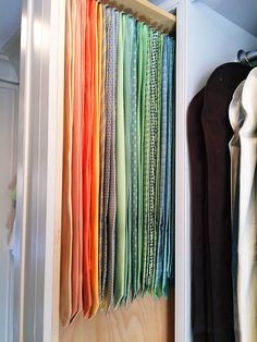 tie storage, tie rack, ties
