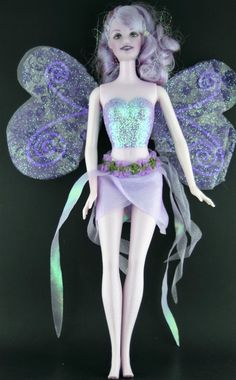 Barbie Fairytopia Dressed Doll -- Purple Sparkle Fairy