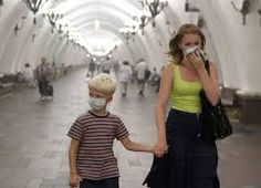 Image result for people walking in smog
