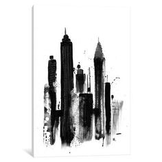 """Mercury Row New York I Painting Print on Wrapped Canvas Size: 40"""" H x 26"""" W x 0.75"""" D"""