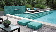Design by Bonick Landscaping #zincdoor #turquoise #colorcrave #pool