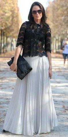Плиссированная юбка для полных