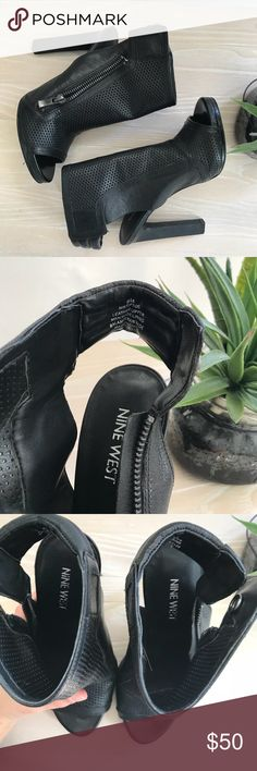 Nine West tip toe heels! Biker look  These are a size 6 from Nine West. They're edgy and would pair nicely with some leather pants  happy to provide more photos, just ask! Nine West Shoes