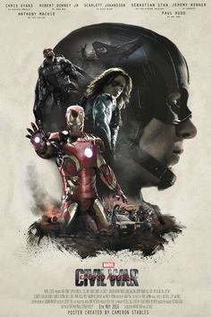 Captain America: Civil War poster - Sicario, fan made