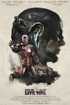 Captain America: Civil War poster - Sicario, fan made