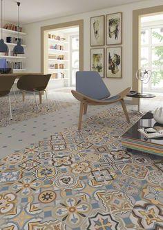 Serie VODEVIL  es un porcelanico de la colección MAISON-BOHEME perfecto para tu salón. | VIVES Azulejos y Gres S.A.