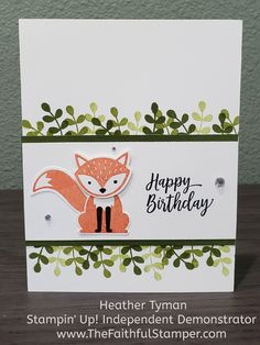Stampin Up Foxy Friends Cards, Foxy Friends Punch, Hand Made Greeting Cards, Making Greeting Cards, Friends Sketch, Birthday Cards For Friends, Stamping Up Cards, Fall Cards, Pretty Cards