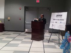 Japanese movie night reception. Dr. Michael Newman, Director of the School of Human Sciences