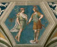 the astrological ceiling of Villa Farnesina in Rome