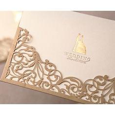 encaje precioso recorte de invitación de boda