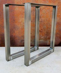 Metal table legs/Iron/Steel Desk legs, Made in the USA ! Diy Table Legs, Steel Table Legs, Dining Table Legs, Industrial Metal Table Legs, Modern Industrial, Desk Legs, Iron Steel, Iron Table, Ikea