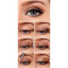 10 eye makeup tutorials from Pinterest that'll turn you into a beauty... ❤ liked on Polyvore featuring beauty products