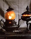 teapot, halloween decorations, halloween stuff, decorating ideas, halloween pumpkins, pumpkin carvings, mini, black glass, costume halloween