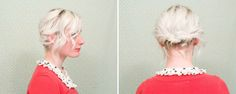short hair style --> simple updo. | indiejane photography