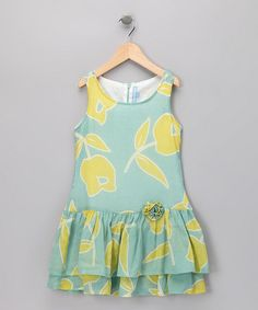 Take a look at this Yellow Tulip Drop-Waist Dress - Girls by Willoughby on #zulily today!