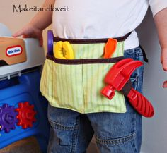 Best Sewing Projects to Make For Boys - Boy's Tool Belt - Creative Sewing Tutorials for Baby Kids and Teens - Free Patterns and Step by Step Tutorials for Jackets, Jeans, Shirts, Pants, Hats, Backpacks and Bags - Easy DIY Projects and Quick Crafts Ideas http://diyjoy.com/cute-sewing-projects-for-boys