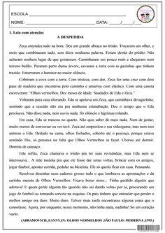 SOS PROFESSOR-ATIVIDADES: Avaliação - A despedida