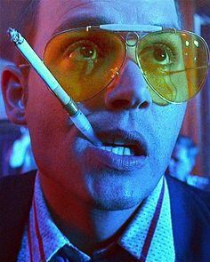Johnny Depp is Hunter S. Thompson in Fear and Loathing in Las Vegas - directed by Terry Gilliam Harley Queen, Hunter S Thompson, Foto Portrait, Terry Gilliam, Image Beautiful, Johny Depp, Fear And Loathing, Film Stills, Great Movies