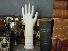 Vintage Porcelain Glove Mold. Mannequin Hand. Store Display.