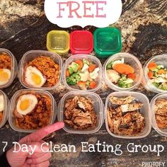 "Do you struggle with clean eating knowing WHAT to eat and getting MOTIVATED to exercise? Join us for a 7 day FREE clean eating challenge starting next Monday!  I will give you a complete menu and a shopping list to take the guess work out of nutrition!  The average weight loss from this group is 4-7 lbs and 1-2 inches off the waist and love handles... pretty amazing stuff!  Please comment below ""I'm in"" if you want to join us... again this is absolutely FREE but you are required to check in…"