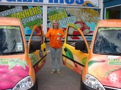 Contact Field Marketing arranged for 3 vans to be brand wrapped in the Yoplait design ready for the National Road Show Field Marketing, National Road, Vans, Travel, Design, Viajes, Van, Destinations