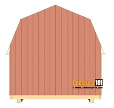 shed plans - small barn - cut back wall siding. Wood Shed Plans, Diy Shed Plans, Shed Foundation Ideas, 8x8 Shed, Shed Construction, Small Barns, Gambrel, Cozy Cabin, Sheds