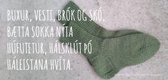 Prjóna sokka með Halldóruhæl - leiðbeiningar - www. Hana, Knitting, Tricot, Breien, Stricken, Weaving, Knits, Crocheting, Yarns