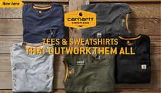 We offer a variety of Tees, Sweatshirts, and Outerwear from Carhartt. Add your logo for a low price with fast free shipping  #screenprinting #embroidery #carhartt Custom Embroidery, Screenprinting, Carhartt, Free Shipping, Logo, Sweatshirts, Tees, Shopping, Screen Printing
