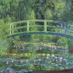 Monet. Water lily pond