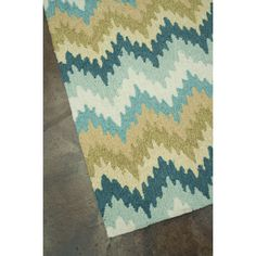 Found it at Wayfair - Hand-Hooked Blue/Green Area Rug