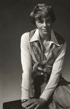 Amelia Earhart...by;Edward Steichen for; Vanity Fair 1931...So much about this bold, iconic enigma remains vague, conflicting & ever elusive... Still on certain levels she gave a face & voice to the equal potential of women & at a crucial juncture... She, her courage & her fortitude will always be remembered...