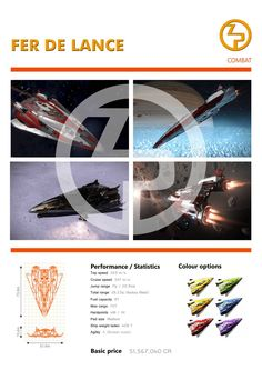 Elite: Dangerous Fer De Lance Zorgon Peterson Ships Brochure