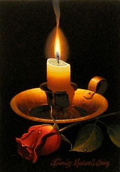 Candle-  Stanley Maxwell Brice, painter