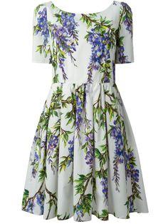 Dolce & Gabbana Wisteria Print Dress - Donne Concept Store - Farfetch.com