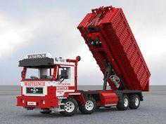 MAN 8x4 Hook Lift Skip Tipper Truck Lego Technic Model