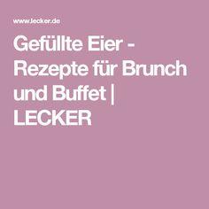 Gefüllte Eier - Rezepte für Brunch und Buffet   LECKER