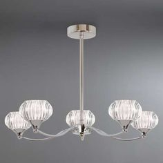 Our five light chrome ceiling fitting is crafted with five curved arms that each contains an oval shaped ribbed glass shade. Lounge Lighting, Flush Lighting, Home Lighting, Pendant Lighting, Chandelier, Wall Lights, Ceiling Lights, Light Fittings, Glass Shades