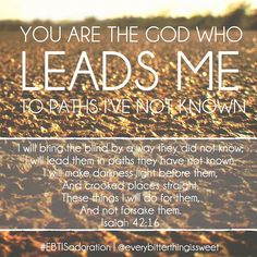 You are Our God who leads us...